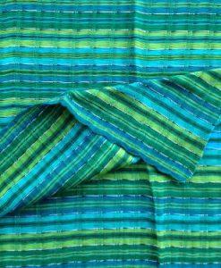 Inspirit Arts Handwoven Short Head wrap Turquoise Lime Emerald Cotton Gauze Hair Scarf Turban Chemo Green