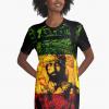 Rasta Dress long t-shirt graphic style Haile Selassie Design Rasta Seed