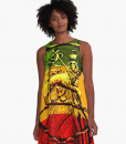 Jah Lion Rasta Dress A-line Rasta Seed