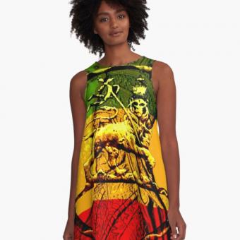 Jah Lion Rasta Dress A-line Rasta Seed