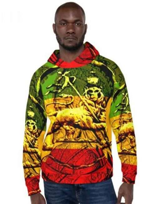 Lion of Judah Hoodie Rastagearshop merchandise clothing at rastaseed.com