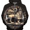 Ancient Jah Lion Hoodie Rasta Seed Merchandise Reggae and Clothing
