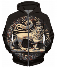 Ancient Jah Lion Hoodie Rasta Seed Merchandise Reggae and Clothing