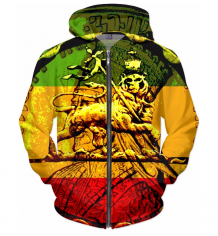 Jah Rastafari Lion of Judah Hoodie Design on Abundant merchandise