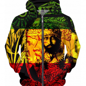 rasta hoodie haile selassie natural mystic all over print design rastaseed ragon