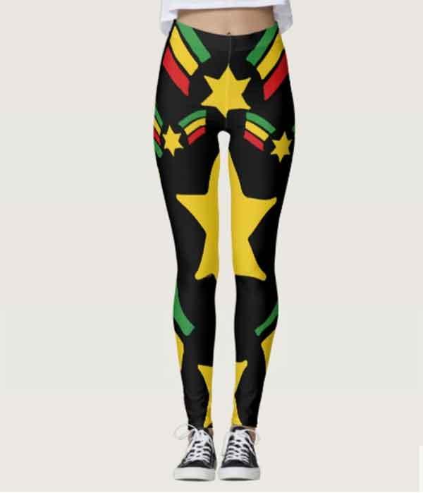 Rasta Reggae Leggings Military Stars Design - Rasta Seed d6bb1af00