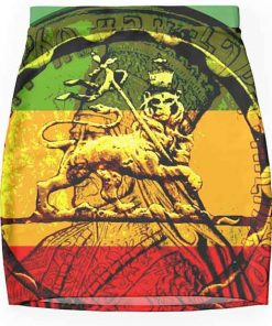 rasta mini skirt lion of judah design rastaseed.com