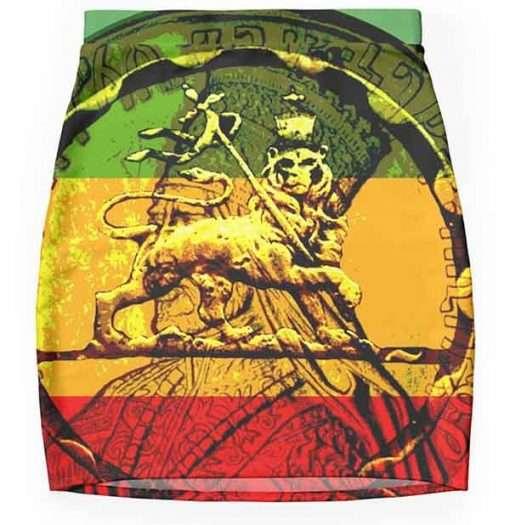 rasta mini skirt lion of judah design rastaseed.com