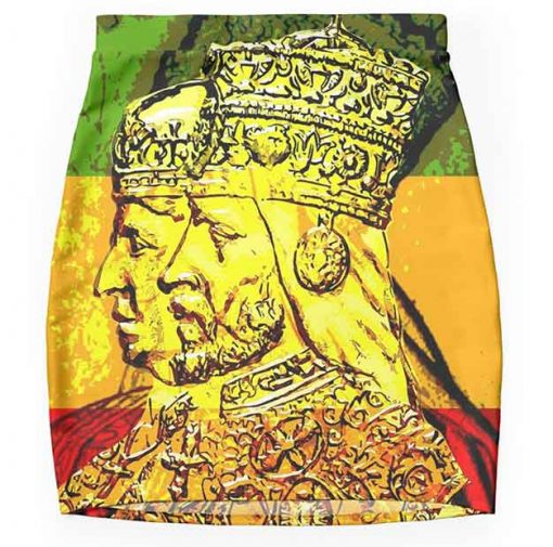 rasta pencil skirt haile selassie empress menen rastafarian design rastaseed.com