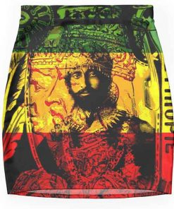 Rasta skirt pencil mini natural mystic design Rastaseed.com