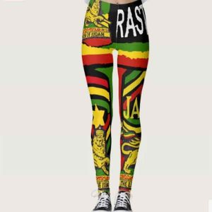 Reggae Steppers Leggings at Rastaseed.com. Rasta Merchandise and Reggae Outfits.