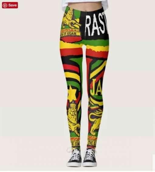 Reggae Steppers Leggings at Rastaseed.com. Rasta Merchandise and Reggae Outfits.
