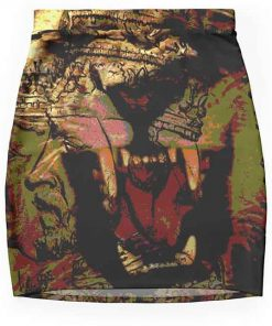 Rastafarian skirt African inspired roaring lion design. Rasta Seed Merchandise Reggae and clothing