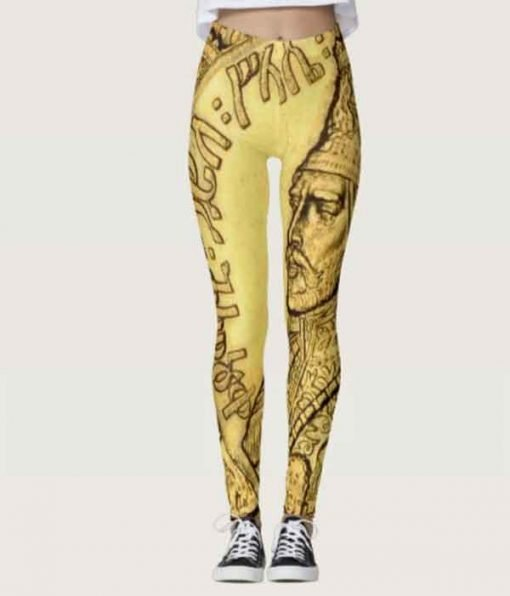 Haile Selassie Leggings Rasta Seed Merchandise and Reggae Gear