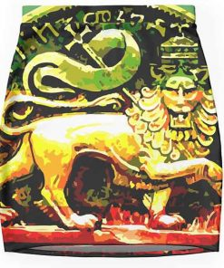Jah Rastafari Skirt Ancient Lion of Judah Design. Rasta merchandise on clothing, homewares and technology products.