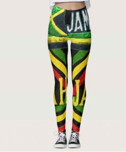 Rasta jah Jamaican Leggings at Rastaseed.com. Rastafarian Reggae Merchandise an Clothing