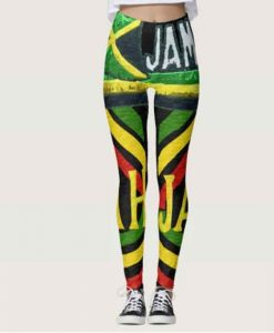 Rasta jah Jamaican Leggings at Rastaseed.com. Rastafarian Reggae Merchandise an Clothing