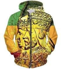 Haile Selassie Empress Menen Hoodie rastaseed.com