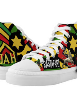 One Drop Rastafarian Hi Top Sneakers. Rasta Shoes at rastaseed.com