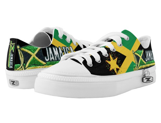 Jamaican Low top Rasta Sneakers Jamaican Flag and colors.