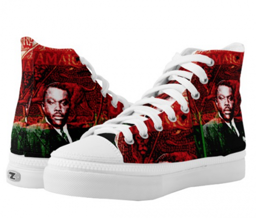 marcus-garvey jamaican hi top rasta shoes at rastaseed.com and rastagearshop.com