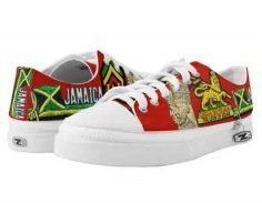 Reggae Steppers rasta shoes low top sneakers in the rasta colors at rastagearshop and rastaseed.com