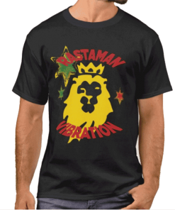 Rastaman Vibration Lion of Judah T-shirt Rastaseed.com