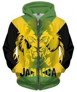 Jamaican Hoodie Lion of Judah Rastaseed.com Jamaican Flag