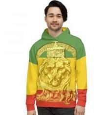 King Lion of Judah Hoodie at Rastagearshop.com