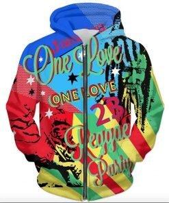 One Love Reggae Party Hoodie Rastaseed.com Jamaican Rasta Reggae Merchandise