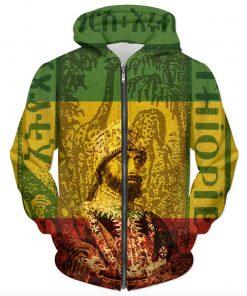 Haile Selassie Hoodie Ancient Africa Rastaseed.com