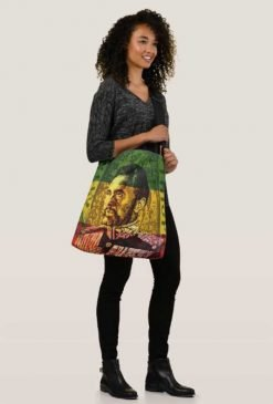 Haile Selassie Bag Crossbody and Tote All Over Print Original Rasta Seed Design Rastaseed clothing merchandise and accessories.