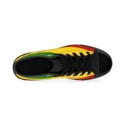 Lion of Judah hi-top sneakers at Rastaseed.com. Rastafarian, Jamaican and Reggae merchandise, clothing and shoes.