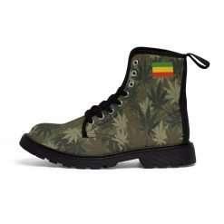 Rasta Gideon Boots Hemp Leaf Camouflage Pattern Rastaseed original Rastafarian Jamaican and Reggae clothing merchandise and gear.