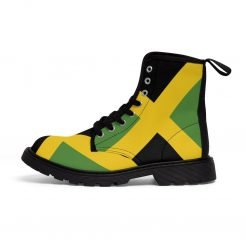 Jamaican Boots Out of Many One People Coat of Arms Rastaseed Jamaican clothing and merchandise