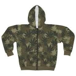 Hemp Camouflage Hoodie in Cannabis sativa camo pattern. Rastaseed original Jamaican Rastafarian Reggae merchandise, clothing and gear.