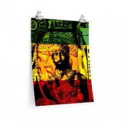Haile Selassie Posters in vivid print design of Empress Menen and Haile Selassie at Rastaseed.com. Many sizes available.